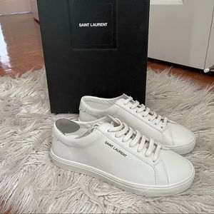 YSL YVES SAINT LAURENT ANDY SNEAKERS WHITE 7.5